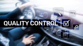 Kontrola jakości i zapewnienie standardisation gwarancja standardy Biznesu i technologii pojęcie obrazy stock