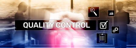 Kontrola jako?ci i zapewnienie standardisation gwarancja standardy Biznesu i technologii poj?cie zdjęcie stock