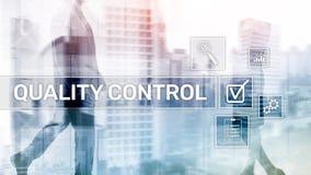 Kontrola jako?ci i zapewnienie standardisation gwarancja standardy Biznesu i technologii poj?cie obraz stock