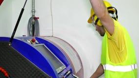 Kontrola metalworking maszyna zbiory wideo