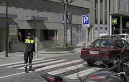 Kontroler na ulicie w Andorra losie angeles Vella Obraz Royalty Free