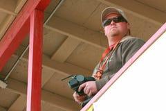 kontrolera mienia mężczyzna radio zdjęcie royalty free