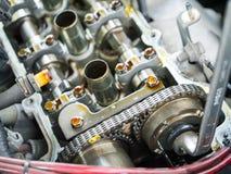 Kontroll för bilmotor Arkivfoton