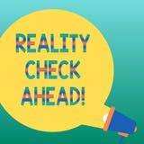 Kontroll för verklighet för handskrifttexthandstil framåt Begreppsbetydelsen gör dem att känna igen sanning om läge någon som är  stock illustrationer