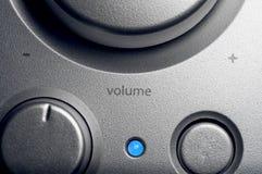 Kontroll för volym för högtalaresystem Arkivbilder