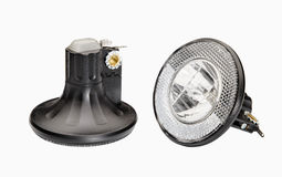 Kontroll-Lampe für das Fahrrad lokalisiert Stockfoto