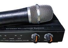 Kontroll mic för ljudsignalförstärkare Arkivbilder