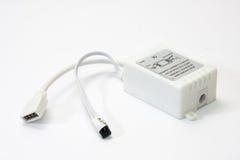 Kontrollant för RGB LEDDE remsor Fotografering för Bildbyråer