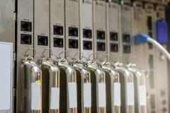 Kontrollant för Televphone system PABX Arkivfoto