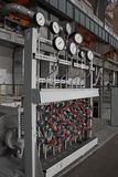 Kontrollbord på kraftverket Arkivfoto