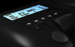 Kontrollen auf DSLR-Kamera stock abbildung