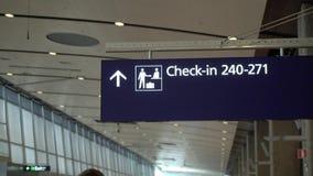 Kontrollera in counter i flygplats