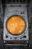 kontrollera den gammala radarsovjetstationen Arkivfoto