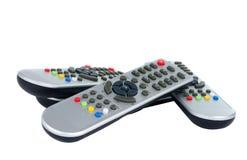 kontrollera den gråa remoten Fotografering för Bildbyråer