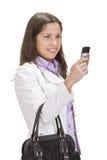 kontrollera den mobila telefonen Royaltyfria Foton