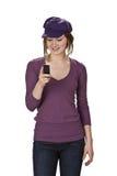 kontrollera den mobila telefonen Royaltyfri Foto
