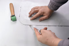Kontrollera det fel svetsade membranet Fotografering för Bildbyråer
