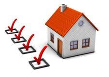 Kontrollera ditt hus vektor illustrationer