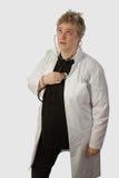 kontrollera doktorn som har upp Fotografering för Bildbyråer