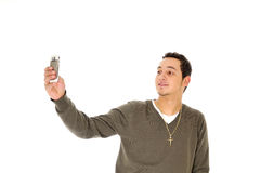 kontrollera för mobiltelefon Royaltyfri Fotografi