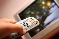 kontrollera fjärrhålla ögonen på för tv Royaltyfria Bilder