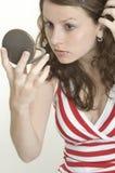 kontrollera hår Royaltyfri Bild