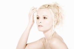 kontrollera hår Arkivbild