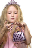 kontrollera henne manicure Royaltyfri Fotografi