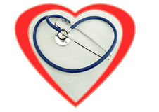 kontrollera hjärta Fotografering för Bildbyråer