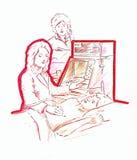 kontrollera läkarundersökningen Royaltyfri Illustrationer