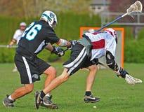 kontrollera lacrosse Arkivfoto