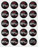 kontrollera mer min var god etikett för sets för portföljförsäljningsset På vitbakgrund 10 eps Arkivbilder