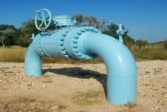kontrollera pipelineventilen Arkivbild