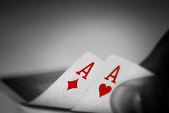 kontrollera poker Arkivfoton