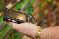 kontrollera trådlösa apparatmeddelanden Royaltyfria Foton