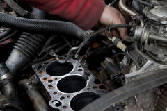 kontrollera upp motorn Royaltyfri Foto