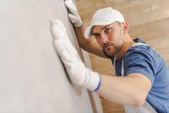 Kontrollera väggen för keramiska tegelplattor royaltyfria foton