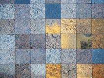 Kontrollerad modell av olika slag av den naturliga stenen för bakgrund Royaltyfria Foton