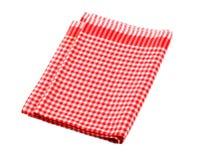 kontrollerad röd white för teahandduk Royaltyfria Bilder