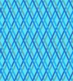 Kontrollerade blått mönstrar, sömlös vektorbakgrund Royaltyfri Fotografi