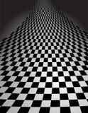 Kontrolleur-Muster in der Perspektive - Vektorillustrati Lizenzfreies Stockbild