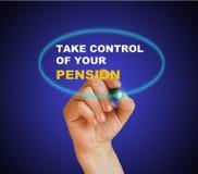 Kontrollieren Sie Ihre Pension Stockbilder