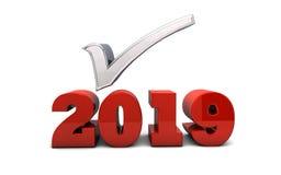 Kontrollista 2019 och förutsägelser royaltyfri illustrationer