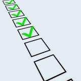 kontrollistagreen Royaltyfri Bild