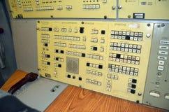 Kontrollkonsol av lanseringen Bunker för Satanlag för lansering SS-18 Royaltyfri Bild