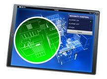 Kontrollminnestavla app för hem- säkerhet Royaltyfria Foton