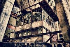 Kontrollmitt av en kolgruva Royaltyfri Fotografi
