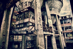 Kontrollmitt av en kolgruva Royaltyfri Foto