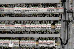 Kontrollrum av en kraftverk Arkivbilder
