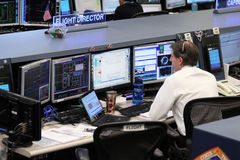 Kontrollstations-Mitte der internationalen Weltraumstation Stockfotos